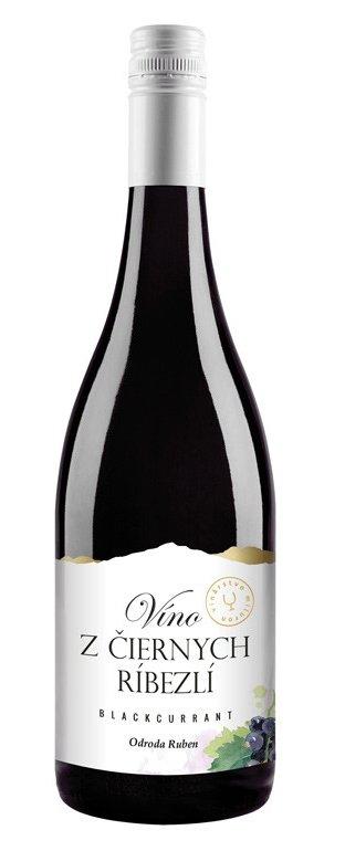 Miluron Víno z černého rybízu 0.75L, ovvin, cr, sl