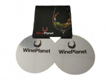 Vinná nálevka s logem Wineplanet - 2 kusy v balení, černý obal