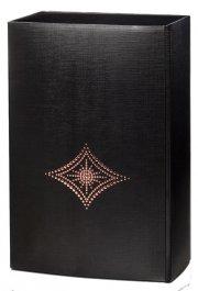 Kristall - černá dárková krabice na 2 láhve, 320x195x100 mm