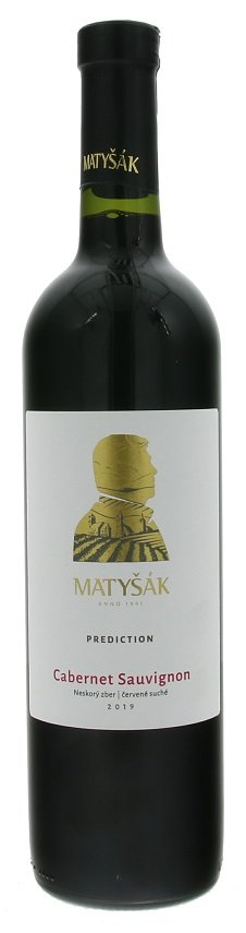Matyšák Prediction Cabernet Sauvignon 0,75L, r2019, nz, cr, su