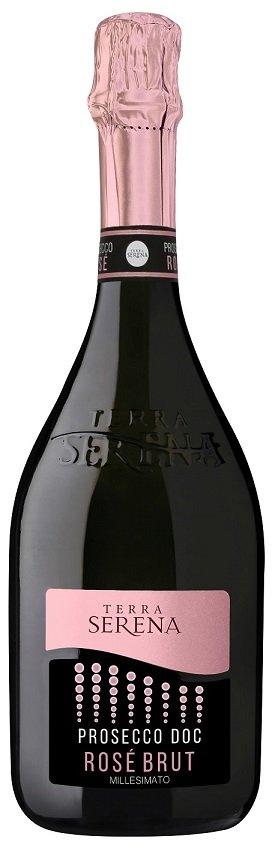 Terra Serena Prosecco Rose Millesimato 0.75L, DOC, r2019, sum, ruz, brut