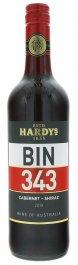 Hardys BIN 343 Cabernet - Shiraz 0,75L, r2019, cr, sc