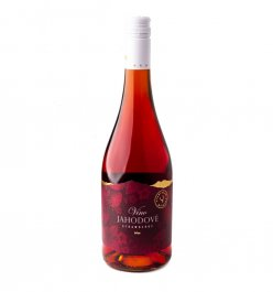 Miluron Jahodové víno 0.75L, ovvin, ruz, sl