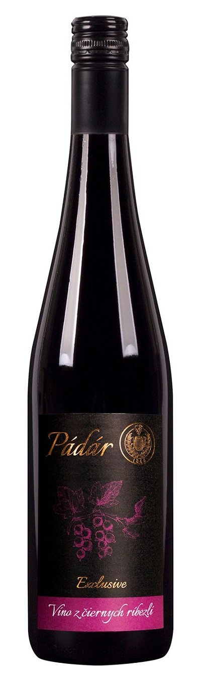 Pádár Víno z černého rybízu Exclusive - rybízové víno 0.75L, r2020, ovvin, cr, sl, sc