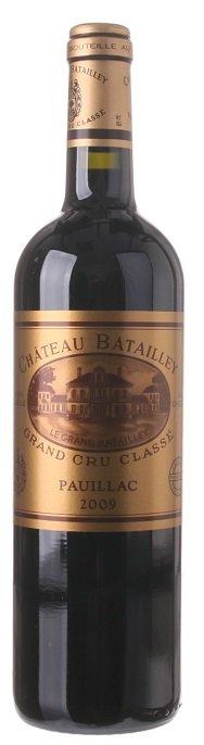 Bordeaux Château Batailley 0.75L, AOC, Grand Cru Classé, r2009, cr, su