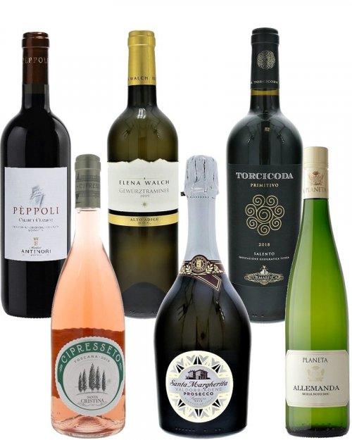 Balíček italská vína,mix