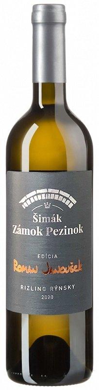 Šimák Zámok Pezinok Edícia Roman Janoušek Ryzlink rýnský 0.75L, r2020, ak, bl, su