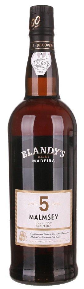 Blandy's Madeira Malmsey 5 Y.O. Doce Rich 0.75L, fortvin, bl, sl
