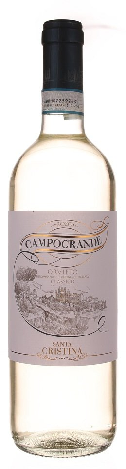 Santa Cristina Campogrande Orvieto Classico 0.75L, DOC, r2020, bl, su