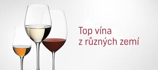 Top vína z různých zemí